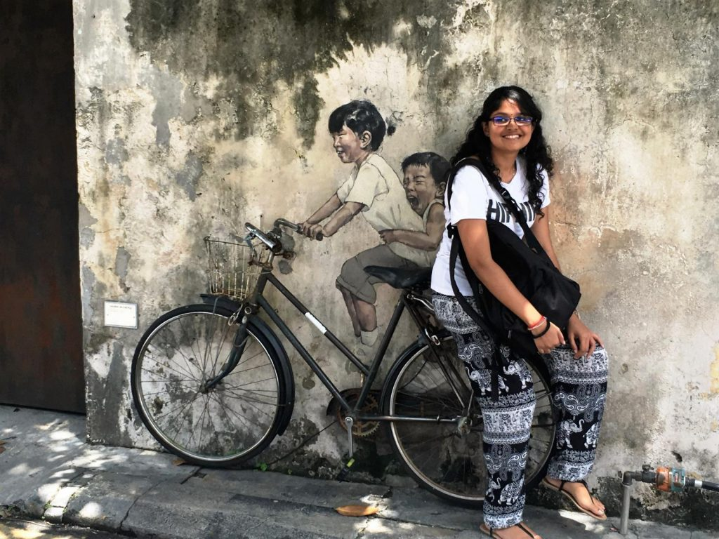 Zacharevic Little children on a bicycle